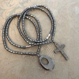 Jewelry - Lot of two hematite chockers/necklaces, 16 inches
